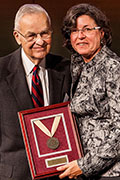 Alumni Bill Strasburg and Dr. Karen A. Stout
